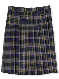 Girls' Pleated Skirt by Bee Jays Special Order in Plaid #87