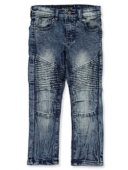 Boys' Rib Wrinkle Jeans by GS-115 in Ice blue
