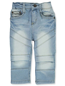 Baby Boys' Moto Jeans by GS-115 in light blue, silver and white