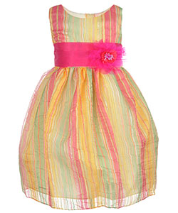 "Ceci Kid Little Girls' Toddler ""Ribbon Stripe"" Dress (Sizes 2T – 4T) - CookiesKids.com"