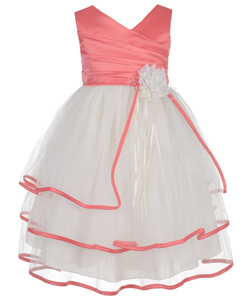 "Chic Baby Little Girls' Toddler ""Pastoral Rose"" Dress (Sizes 2T – 4T) - CookiesKids.com"