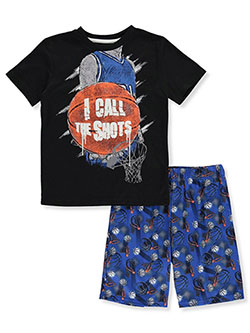 Boys' Basketball 2-Piece Pajamas by Sleep On It in black multi and gray multi - $9.99