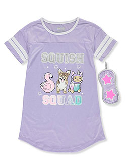Squish Squad Nightgown with Sleep Mask by Sleep On It in Multi