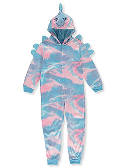 Dino Microfleece Hooded 1-Piece Pajama Suit by Sleep On It in Multi