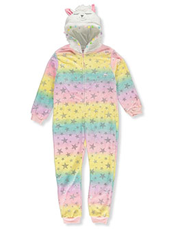 Lamb Plush Hooded 1-Piece Pajama Suit by Sleep On It in Multi