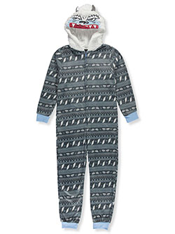 Snow Monster Microfleece Hooded 1-Piece Pajama Suit by Sleep On It in Multi