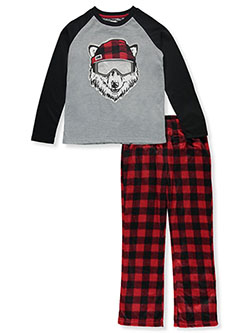 Boys' Snow Wolf 2-Piece Pajamas by Sleep On It in Multi, Sizes 8-20