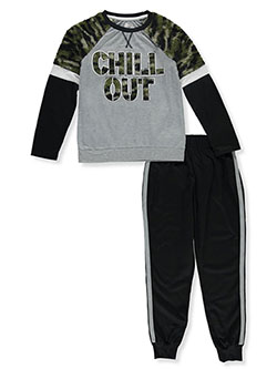 Boys' Chill Out 2-Piece Pajamas by Sleep On It in Multi, Sizes 8-20