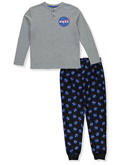 Boys' NASA 2-Piece Pajamas by Sleep On It in Multi, Sizes 8-20