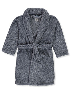 Boys' Plush Bathrobe by Max & Olivia in Gray/multi - Boys Fashion