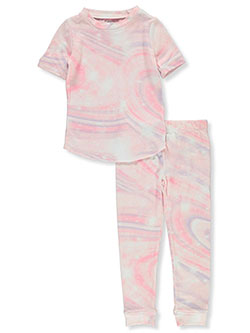 Girls' Candy Swirl 2-Piece Pajamas by Sleep On It in Pink/multi, Girls Fashion