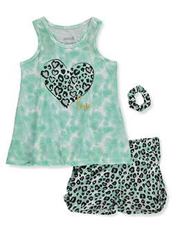 3-Piece Leopard Sleep Set by Sleep On It in green/multi and pink/multi
