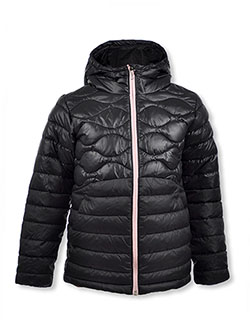 Girls' Humphrey Hills Puffer Jacket by Columbia in Black/gold
