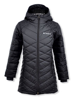 Girls' Heavenly Long Jacket by Columbia in Black/gray