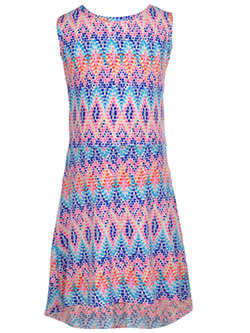 "Coney Island Little Girls' ""Pixelated"" Hi-Low Dress (Sizes 4 – 6X) - CookiesKids.com"
