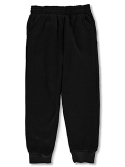 Girls' Fleece Joggers by Coney Island in black, fuchsia and gray