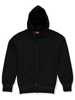 Girls' Fleece Hoodie by Coney Island in black, gray and pink