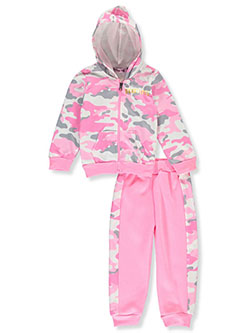 Beautiful Camo 2-Piece Sweatsuit Outfit by Coney Island in Pink/multi