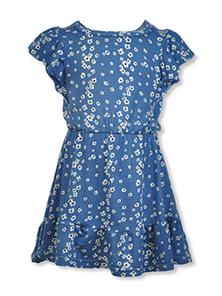Baby Girls' Floral Dress by Love From The Heart in blue/multi and olive multi