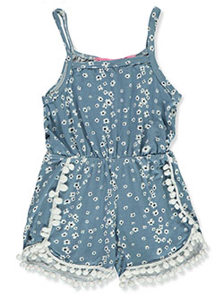 Baby Girls' Romper by Love From The Heart in denim blue and white/multi - Rompers