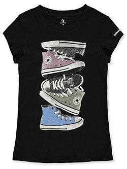 Girls' Glitter Chucks T-Shirt by Converse in black and violet - T-Shirts