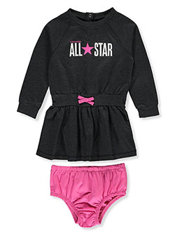 All-Star Dress with Diaper Cover by Converse in Black heather