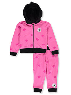 Star Print 2-Piece Sweatsuit Outfit by Converse in Multi