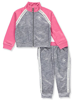 Logo Taping 2-Piece Tracksuit Outfit by Converse in Gray