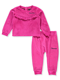 Ruffle Velour 2-Piece Sweatsuit Outfit by Converse in Multi