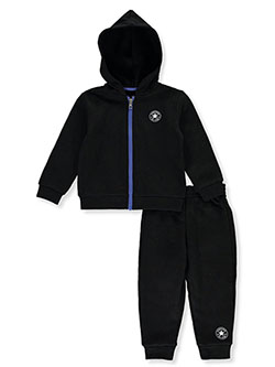 Classic Logo 2-Piece Sweatsuit Outfit by Converse in Black