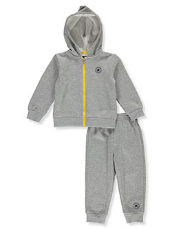 Classic Logo 2-Piece Sweatsuit Outfit by Converse in Gray