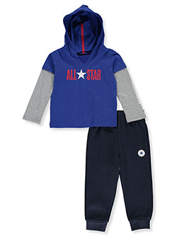 Layer-Look 2-Piece Sweatsuit Outfit by Converse in Multi