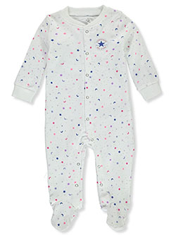 Baby Girls' Galaxy Footed Coveralls by Converse in White