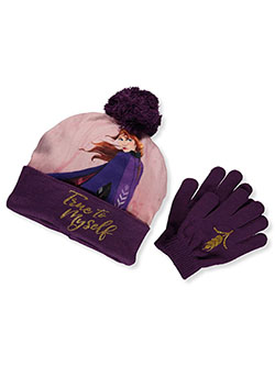 Frozen Baby Girls' Beanie & Gloves Set by Disney in Purple
