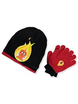 Incredibles Beanie & Gloves Set by Disney in Black/red