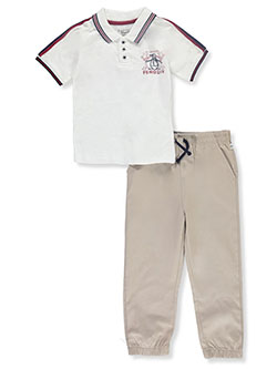 Star Logo 2-Piece Joggers Set Outfit by Original Penguin in White/multi, Boys Fashion