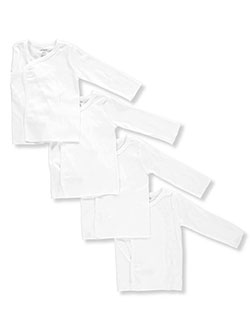 Unisex Baby 4-Pack L/S Side Snaps Shirts by Carter's in White