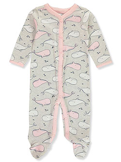 Baby Girls' Happy Whale Footed Coverall by Carter's in Cream/gray