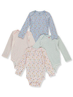Baby Girls' Floral 4-Pack L/S Bodysuits by Carter's in Multi