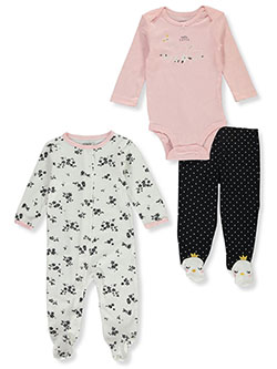 Baby Girls' Swans 3-Piece Layette Set by Carter's in Multi