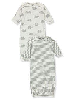 Unisex Baby Elephant 2-Pack Gowns by Carter's in Multi, Infants