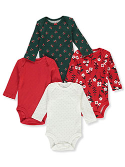 Baby Girls' Holly 4-Pack L/S Bodysuits by Carter's in Multi - $32.00