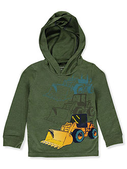 Boys' Earth Mover Hoodie by Carter's in Olive