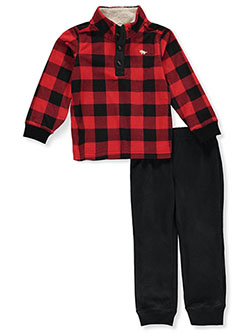 Lumberjack 2-Piece Joggers Set Outfit by Carter's in Multi, Boys Fashion