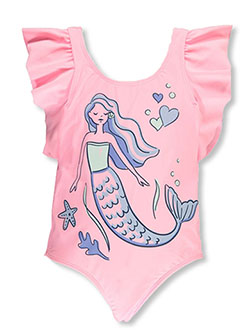 Girls' 1-Piece Mermaid Swimsuit by Carter's in Multi