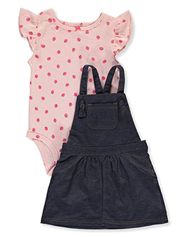 Baby Girls' 2-Piece Skirtalls Set Outfit by Carter's in Denim