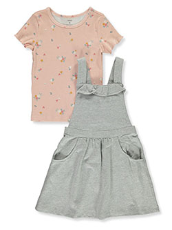 Girls' 2-Piece Terry Jumper & Top Set by Carter's in Blush, Girls Fashion