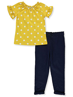 Girls 2-Piece Leggings Set Outfit by Carter's in Yellow/multi