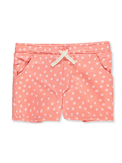 Girls' Polka Dot Terry Shorts by Carter's in Coral, Girls Fashion