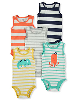 Baby Boys' 5-Pack Bodysuits by Carter's in Gray/multi